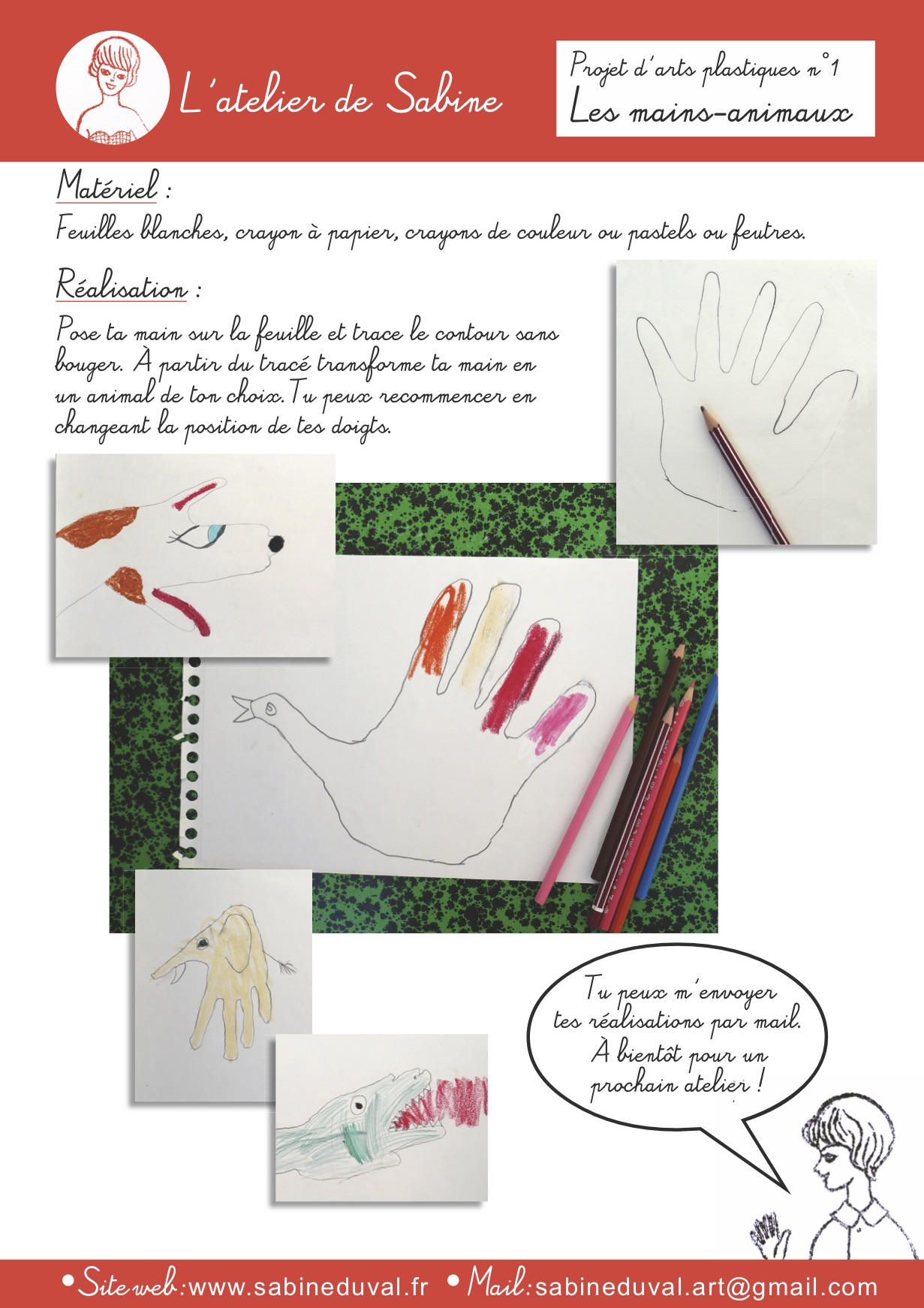 Atelier N1 mains animaux