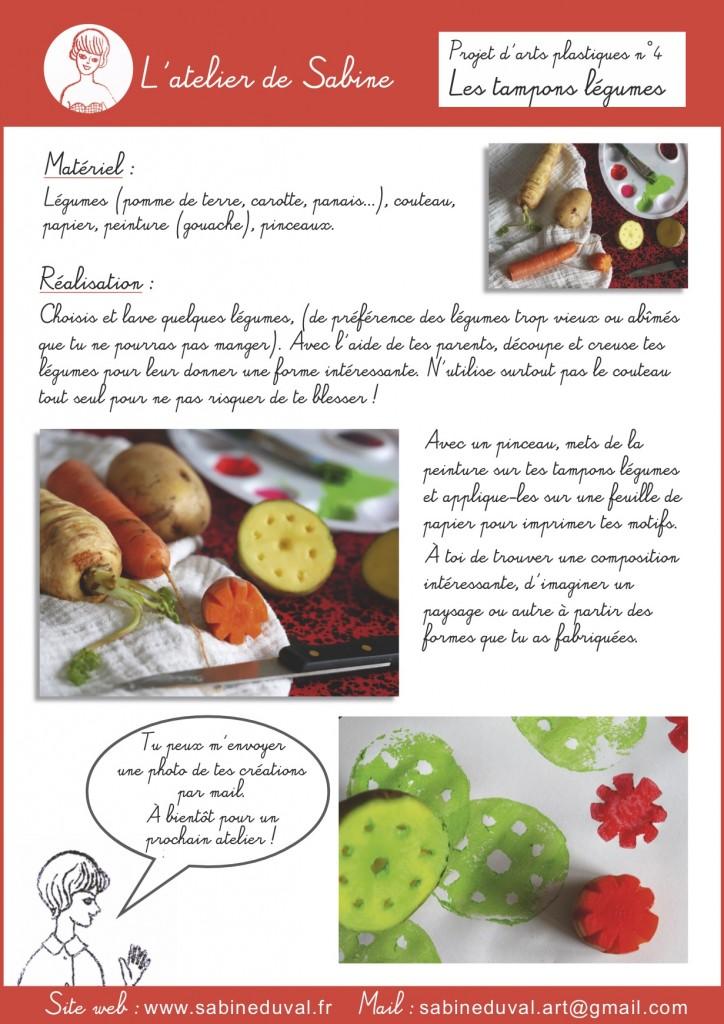 Atelier N4 tampons légumes